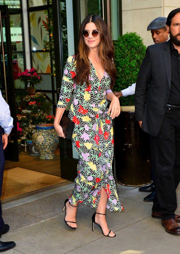 Sandra Bullock Arrives at the Oceans 8 Press Junket Event in New York 05/24/2018-3