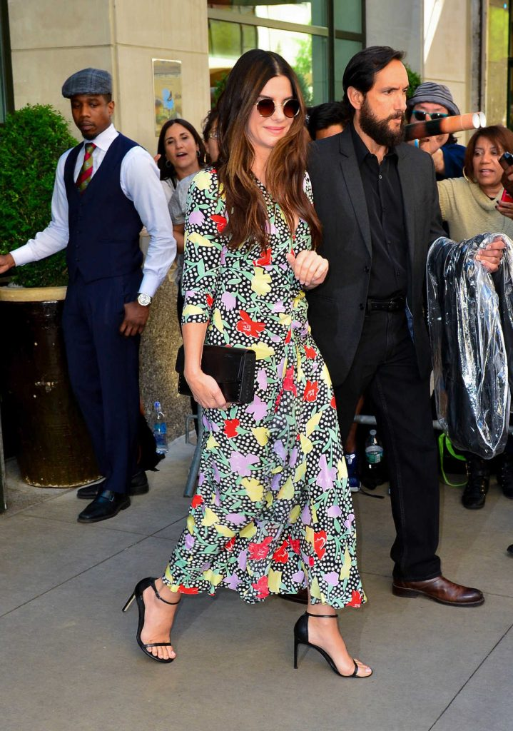 Sandra Bullock Arrives at the Oceans 8 Press Junket Event in New York 05/24/2018-4