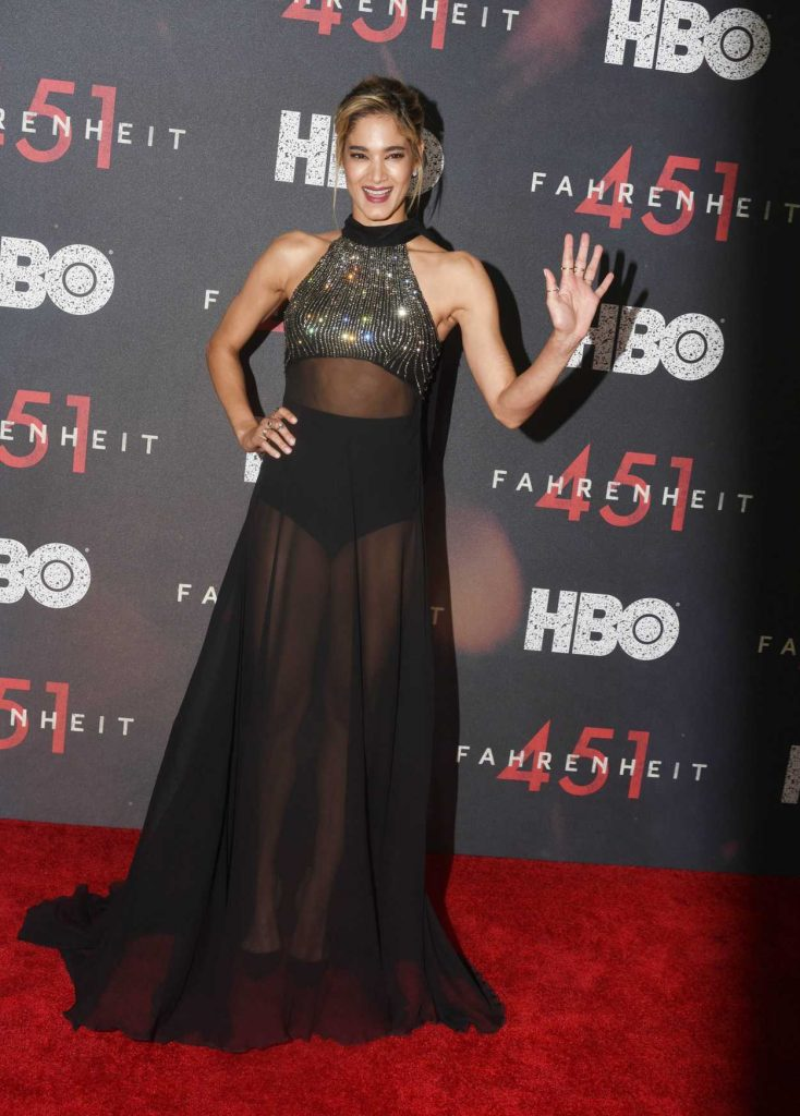Sofia Boutella at the Fahrenheit 451 Premiere at NYU Skirball Center in New York City 05/08/2018-3