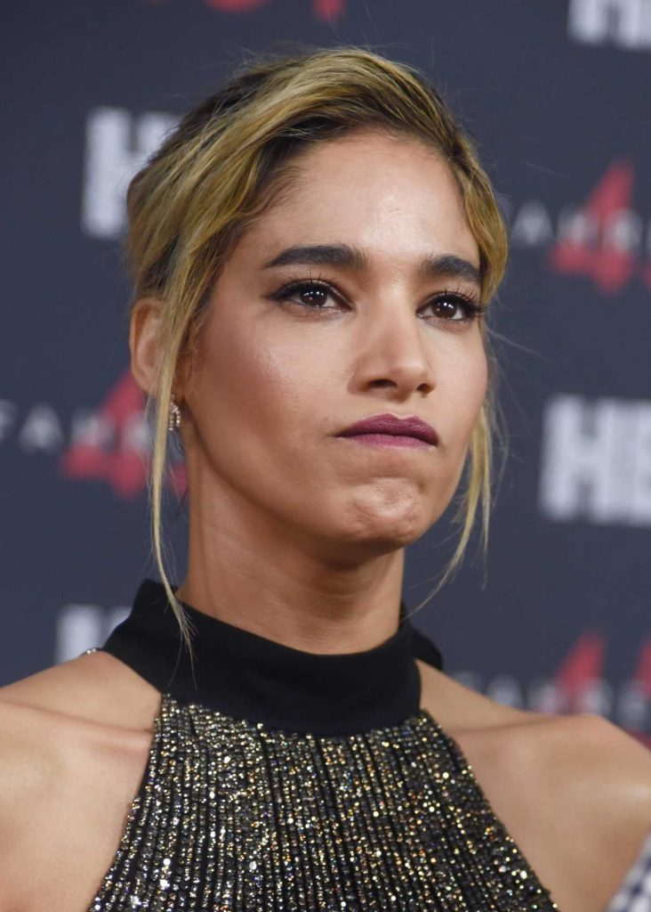 Sofia Boutella at the Fahrenheit 451 Premiere at NYU Skirball Center in New York City 05/08/2018-5