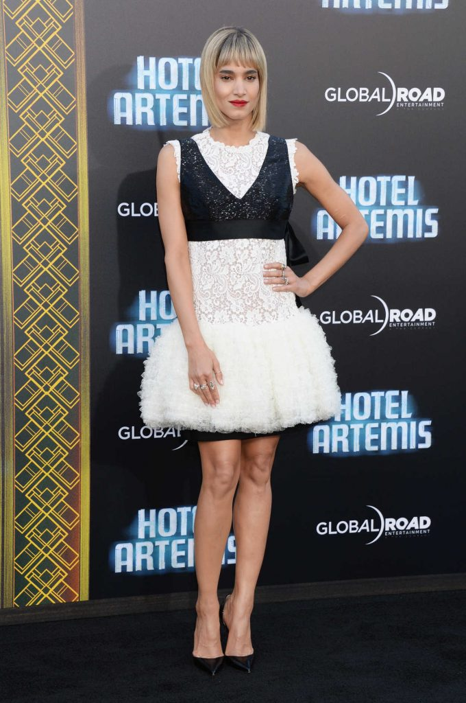 Sofia Boutella at the Hotel Artemis Premiere in Westwood 05/19/2018-3