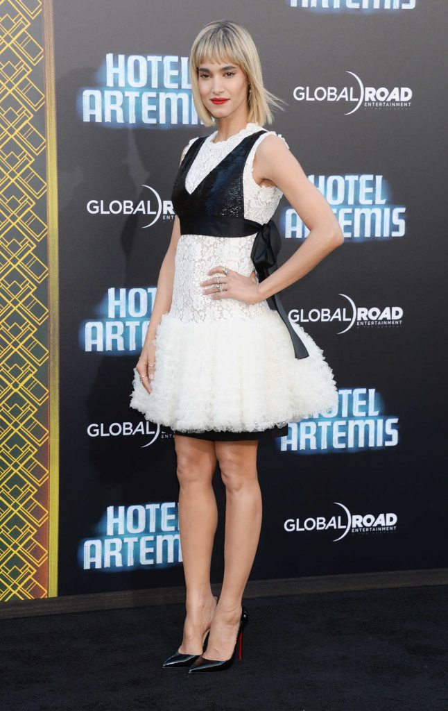 Sofia Boutella at the Hotel Artemis Premiere in Westwood 05/19/2018-4