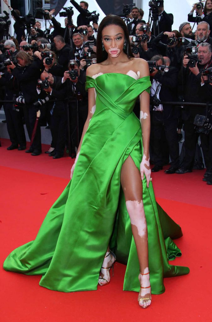 Winnie Harlow at the Blackkklansman Premiere During the 71st Cannes Film Festival in Cannes 05/14/2018-1