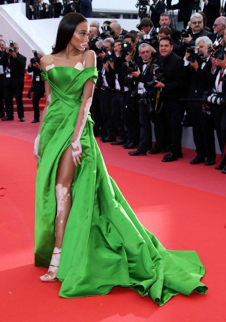 Winnie Harlow at the Blackkklansman Premiere During the 71st Cannes Film Festival in Cannes 05/14/2018-2