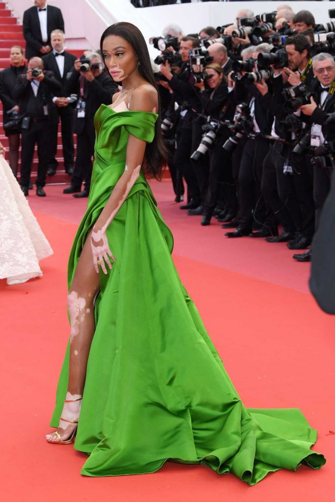 Winnie Harlow at the Blackkklansman Premiere During the 71st Cannes Film Festival in Cannes 05/14/2018-3