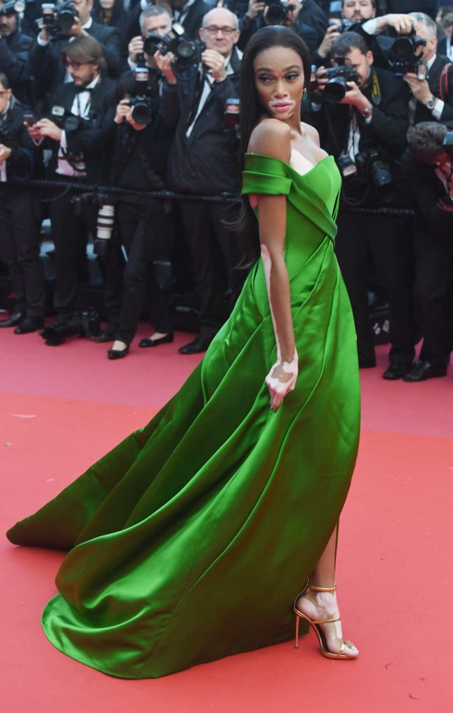Winnie Harlow at the Blackkklansman Premiere During the 71st Cannes Film Festival in Cannes 05/14/2018-4