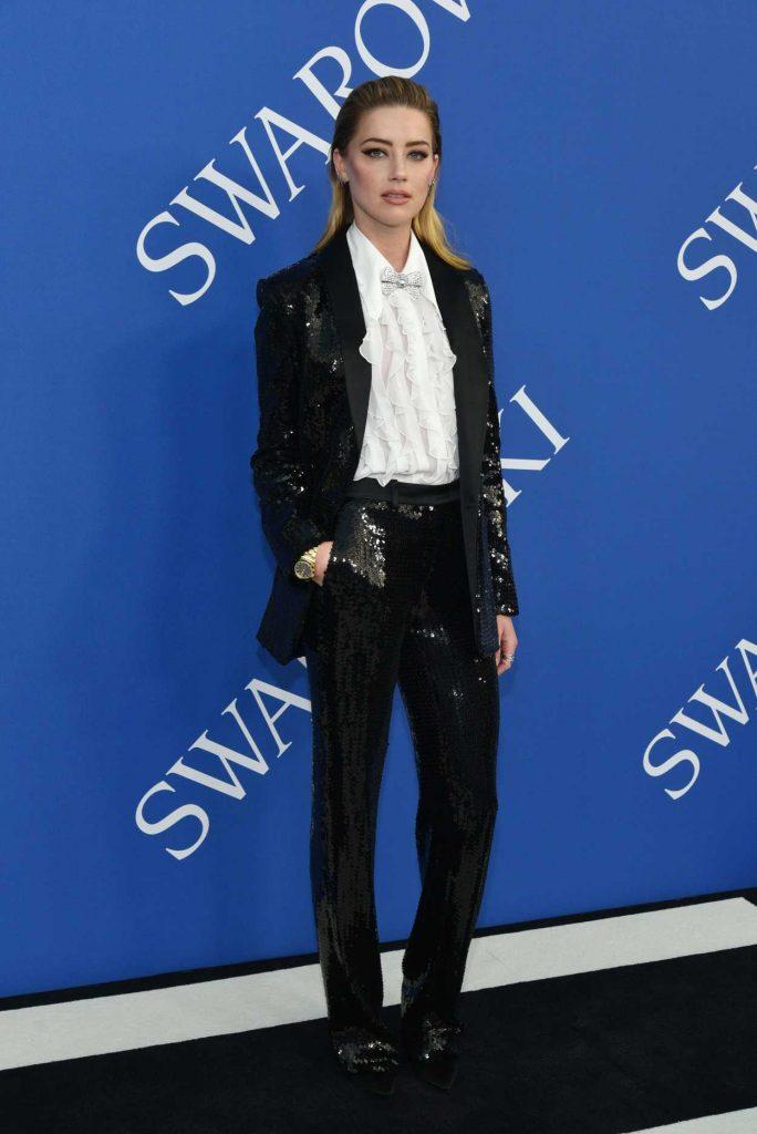 Amber Heard at 2018 CFDA Fashion Awards at Brooklyn Museum in New York City 06/04/2018-2