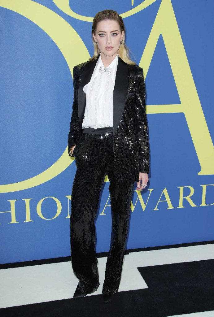 Amber Heard at 2018 CFDA Fashion Awards at Brooklyn Museum in New York City 06/04/2018-3