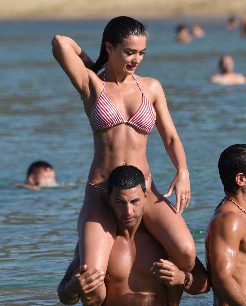 Amy Jackson in Bikini on the Beach in Mykonos 06/14/2018-5