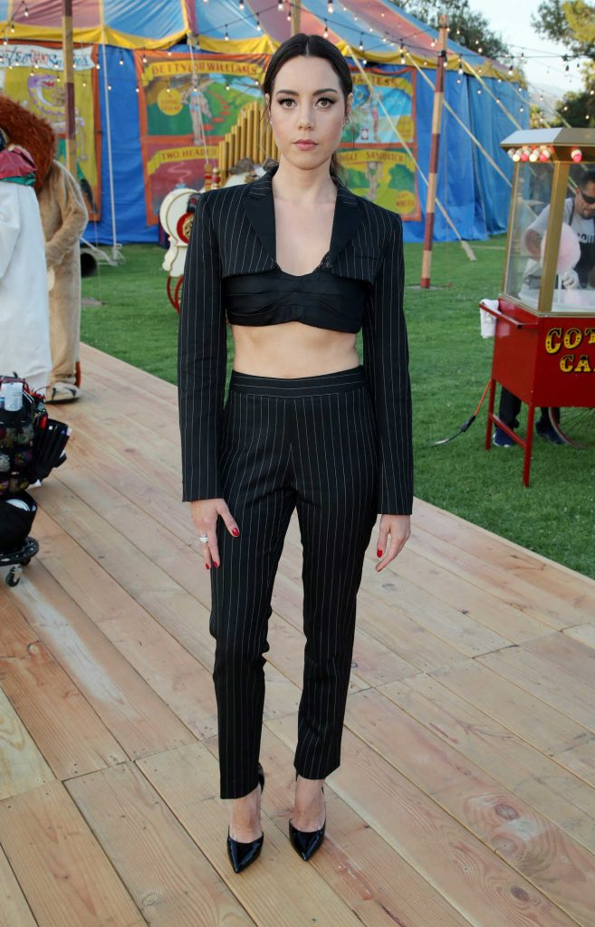 Aubrey Plaza at the Moschino Resort Collection Show at Los Angeles Equestrian Center in Burbank 06/08/2018-1