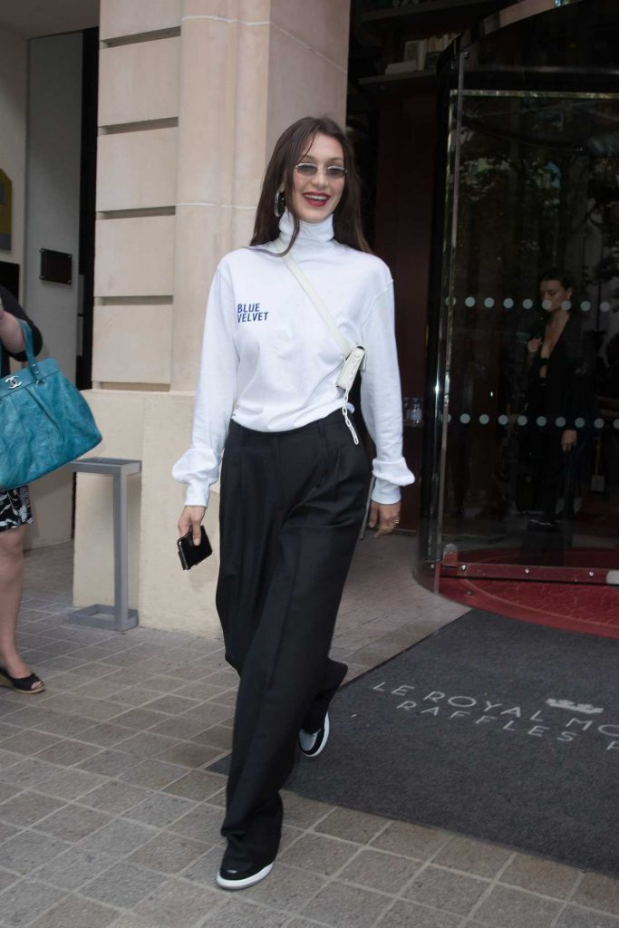 Bella Hadid Leaves Her Hotel in Paris 06/22/2018-1