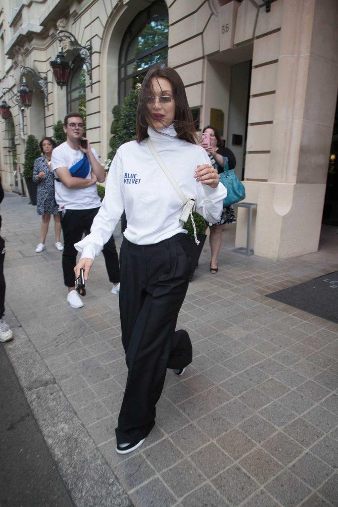 Bella Hadid Leaves Her Hotel in Paris 06/22/2018-3