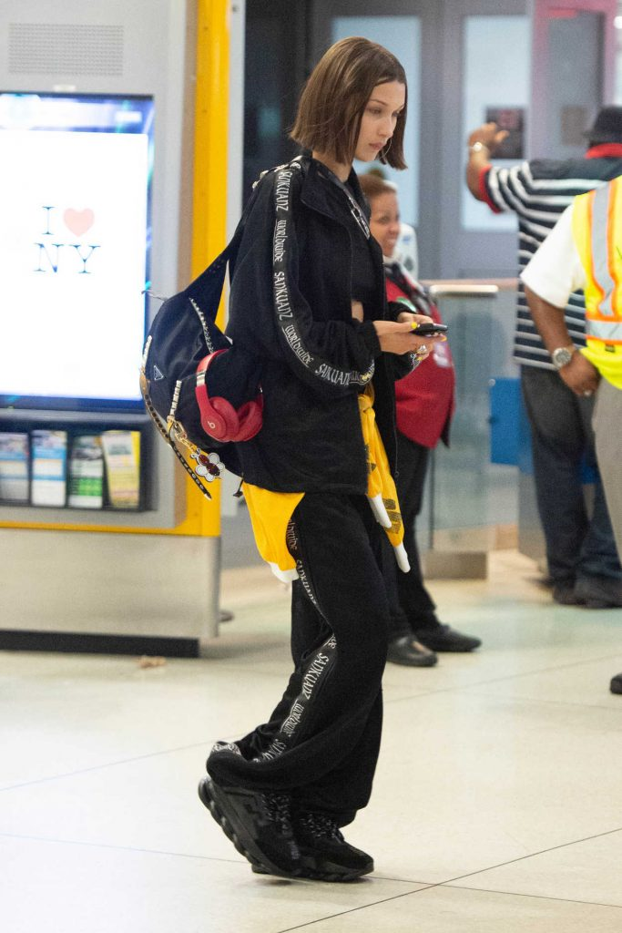 Bella Hadid Leaves JFK Airport in New York 06/24/2018-2