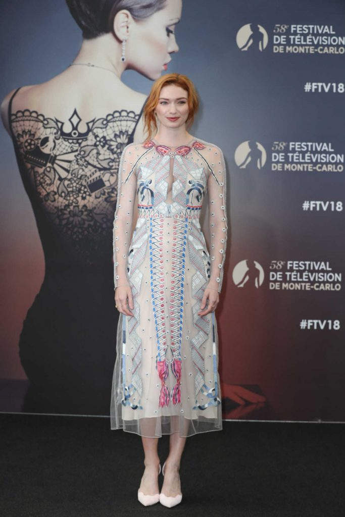 Eleanor Tomlinson at the Poldark Series Screening During the 58th Monte-Carlo Television Festival in Monaco 06/18/2018-1