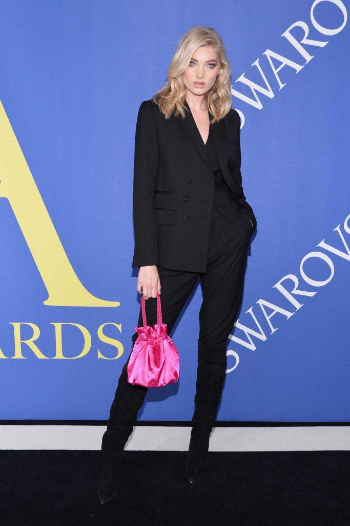 Elsa Hosk at 2018 CFDA Fashion Awards at Brooklyn Museum in New York City 06/04/2018-1