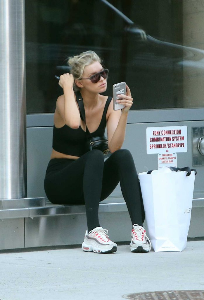 Elsa Hosk Leaves a Gym with Her Boyfriend Tom Daly in New York City 06/14/2018-2