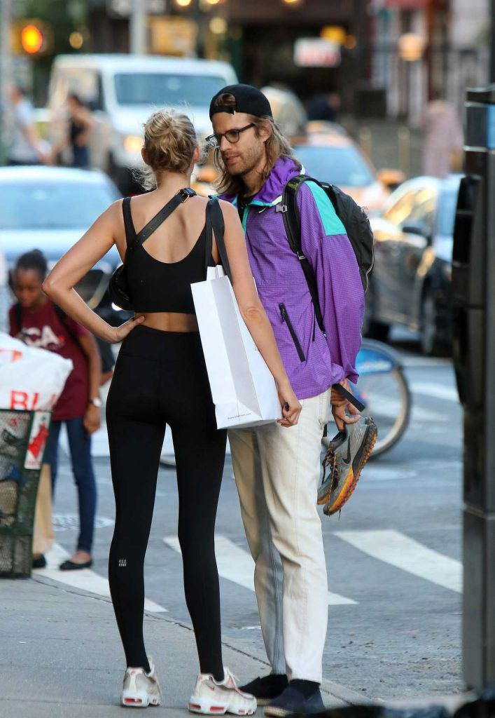 Elsa Hosk Leaves a Gym with Her Boyfriend Tom Daly in New York City 06/14/2018-4