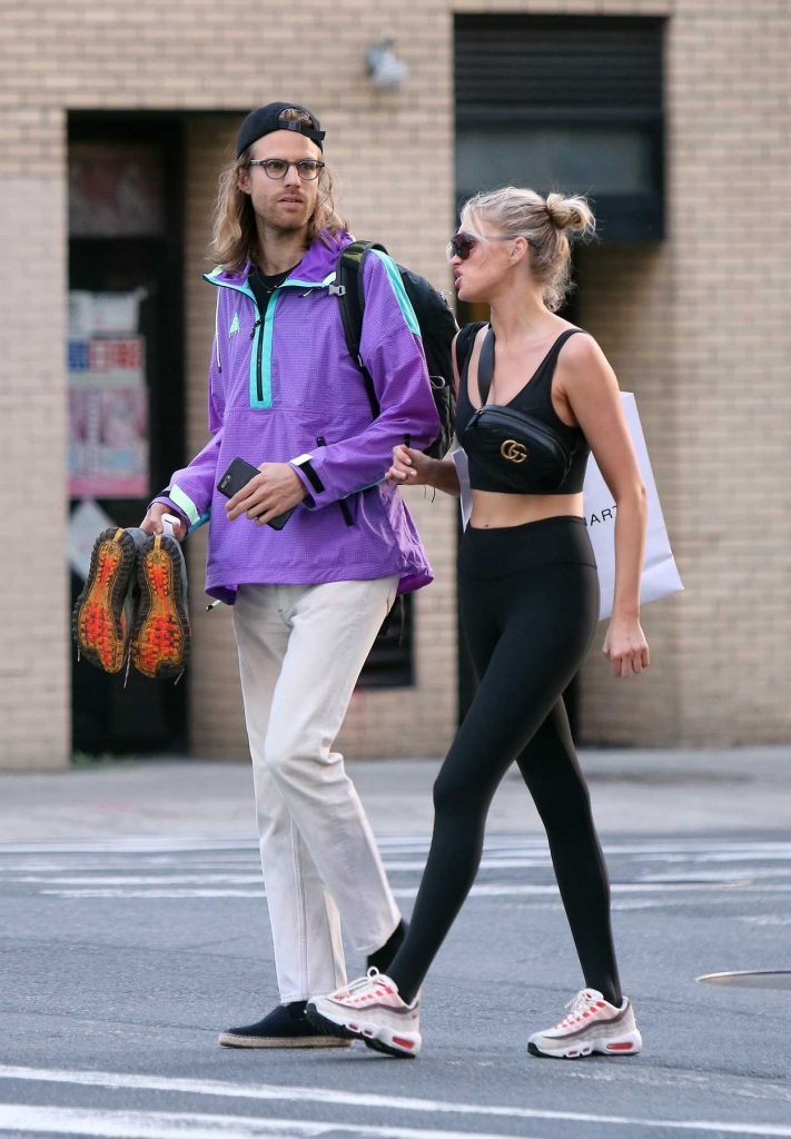 Elsa Hosk Leaves a Gym with Her Boyfriend Tom Daly in New York City 06/14/2018-5