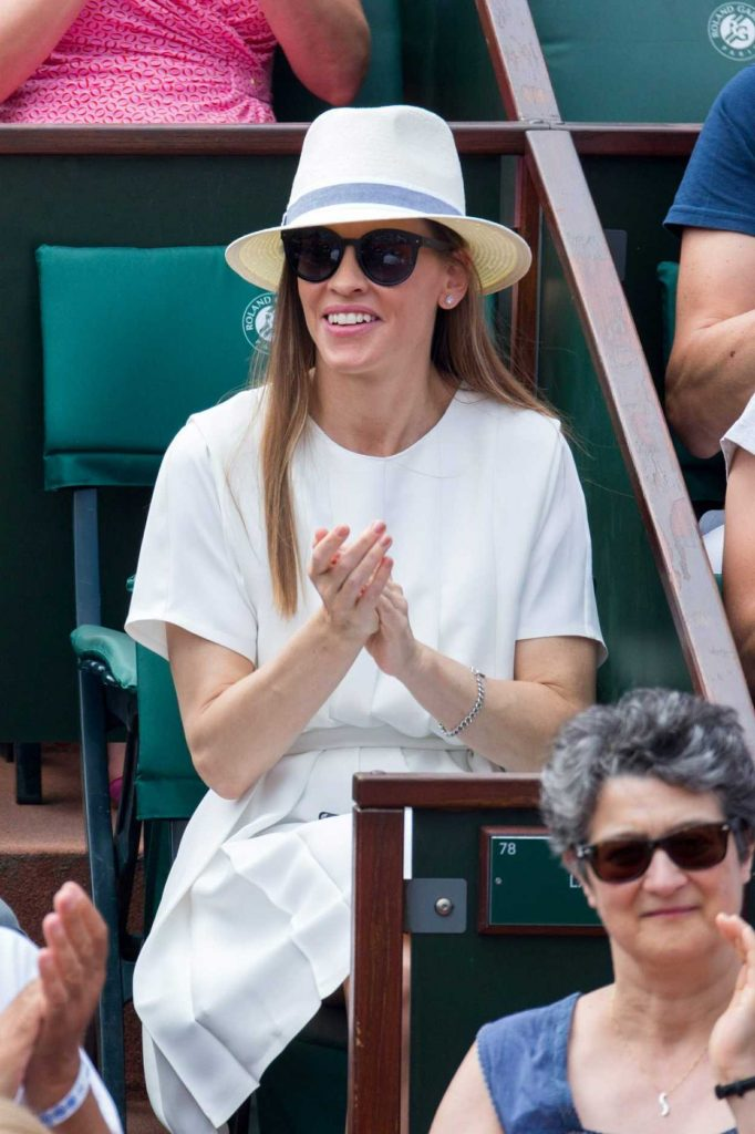 Hilary Swank at 2018 French Open at Roland Garros in Paris 06/09/2018-4