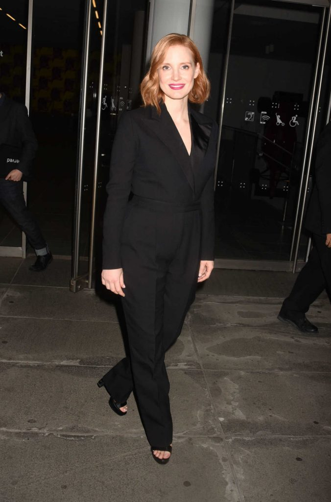 Jessica Chastain Arrives at Woman Walks Ahead Screening at the Museum of Modern Art in New York City 06/25/2018-4