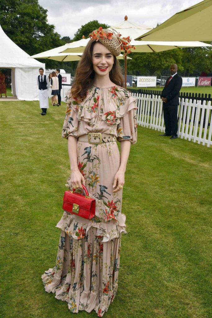 Lily Collins at the Cartier Queens Cup Polo in Windsor 06/17/2018-1