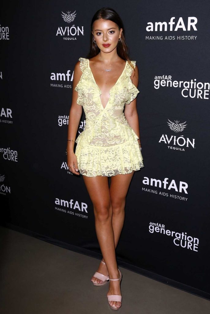 Nora Gjieli at amfAR GenCure Solstice 2018 at Second in NYC 06/21/2018-2