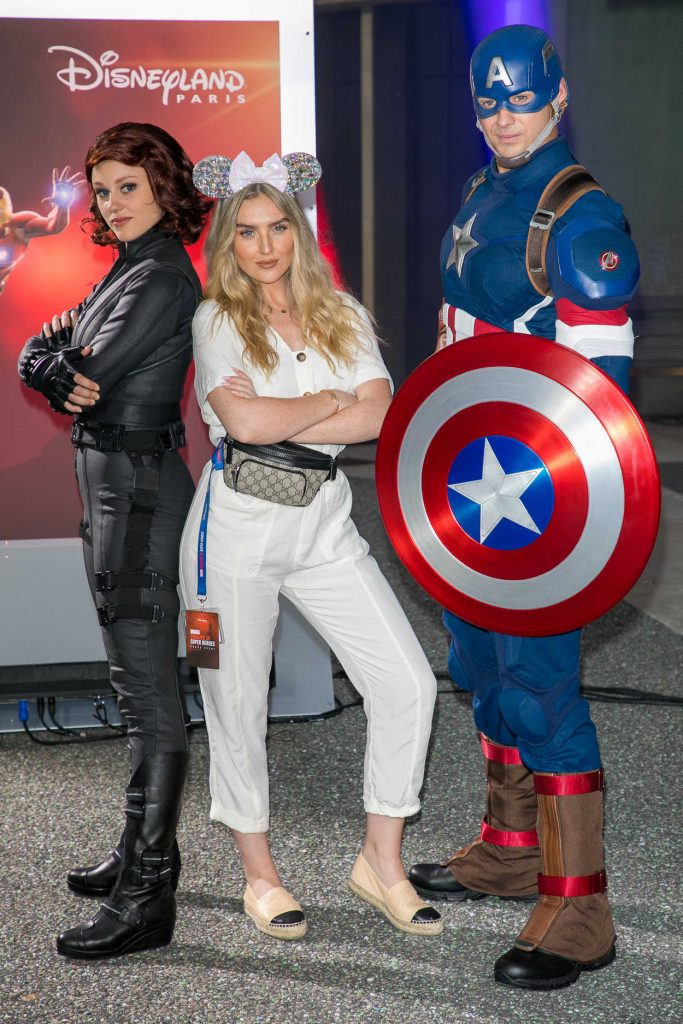 Perrie Edwards at the Marvel Summer of Super Heroes Opening Ceremony at Disneyland in Paris 06/09/2018-3