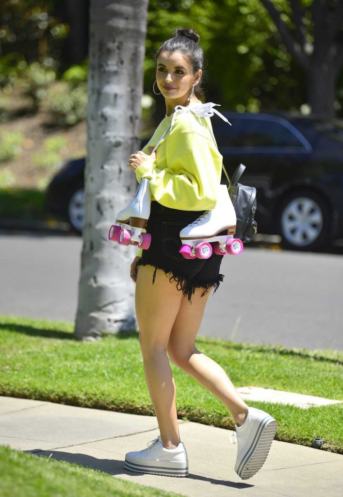 Shows In Los Angeles >> Rebecca Black Shows off Her Roller Blading Skills during ...