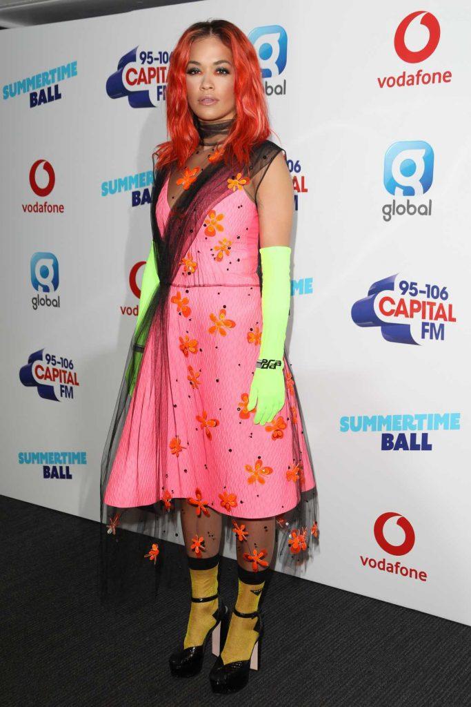 Rita Ora at 2018 Capital Radio Summertime Ball in London 06/09/2018-2
