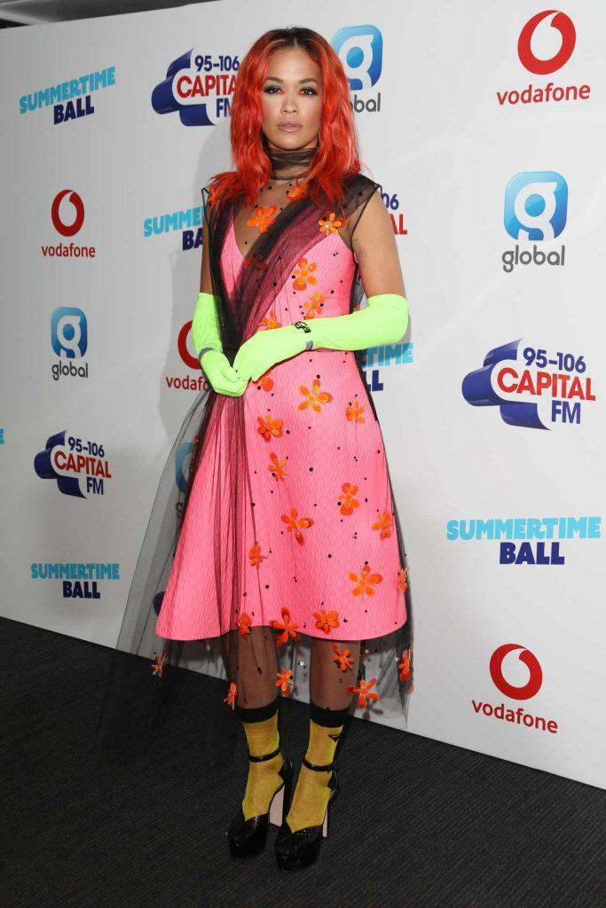 Rita Ora at 2018 Capital Radio Summertime Ball in London 06/09/2018-3