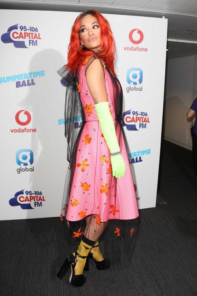 Rita Ora at 2018 Capital Radio Summertime Ball in London 06/09/2018-4