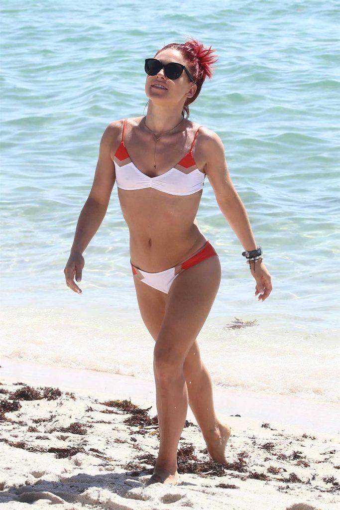 Sharna Burgess in Bikini on the Beach in Miami 06/02/2018-2