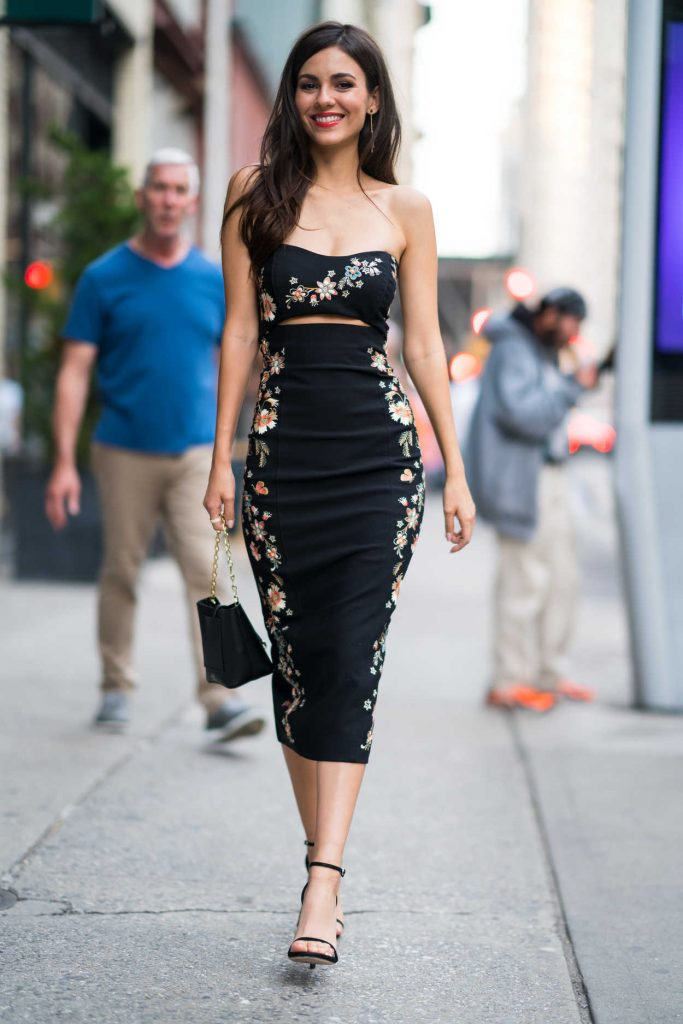 Victoria Justice Wears Cinq a Sept Dress Out in New York 06/26/2018-1
