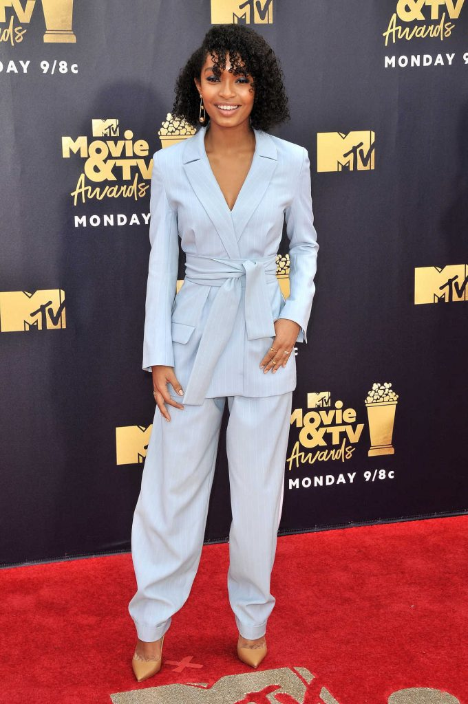 Yara Shahidi Attends the 2018 MTV Movie and TV Awards in Santa Monica 06/16/2018-1