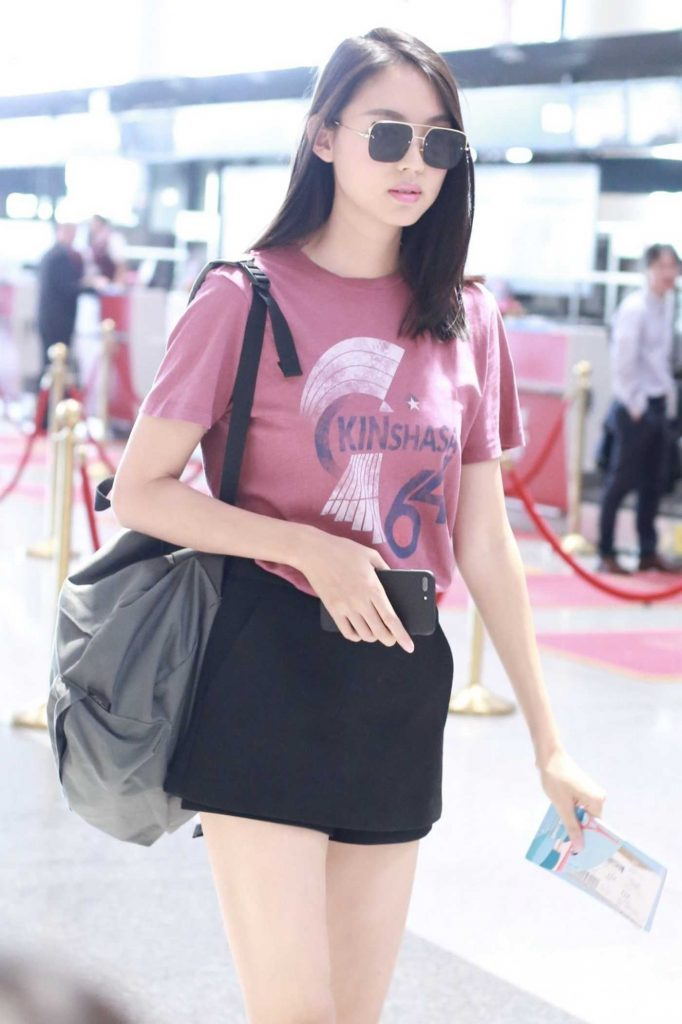Zhang Zilin Arrives at Airport in Beijing 06/01/2018-4