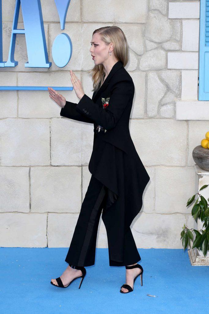 Amanda Seyfried at the Mamma Mia: Here We Go Again World Premiere at the Eventim Apollo in London 07/16/2018-4