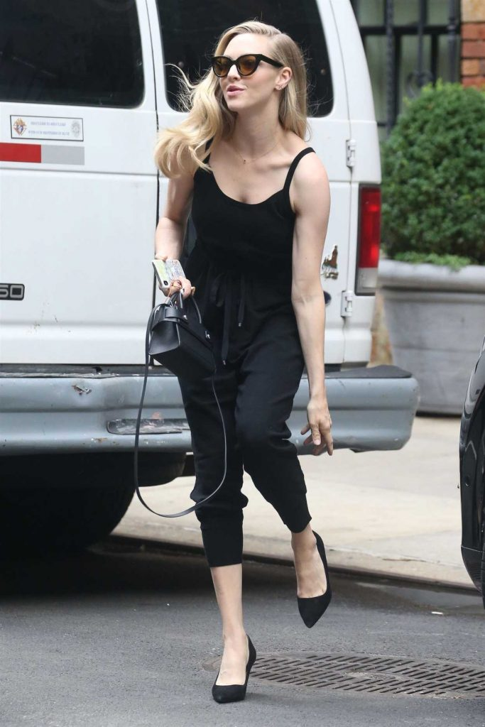 Amanda Seyfried Wears All Black Out in New York City 07/18/2018-1