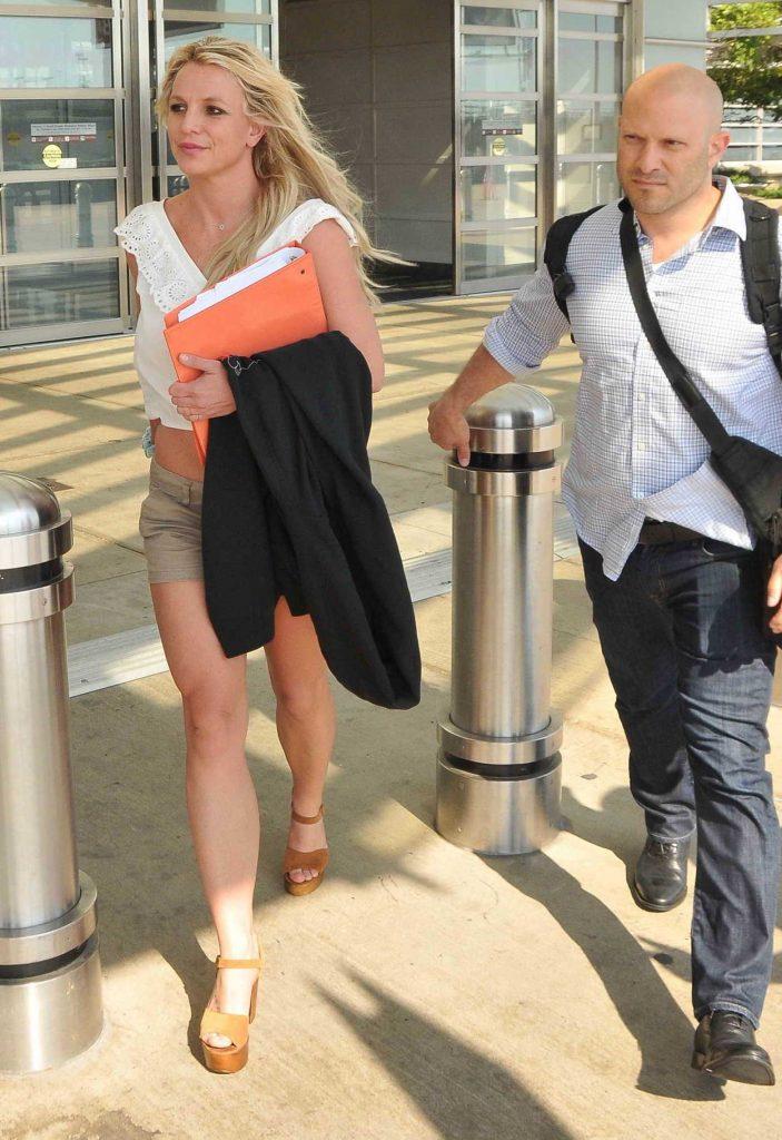 Britney Spears Arrives into Washington 07/10/2018-4
