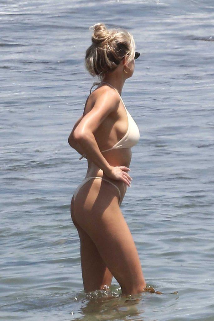 Charlotte McKinney Wears a Skinny Bikini on the Beach in Malibu 07/08/2018-2