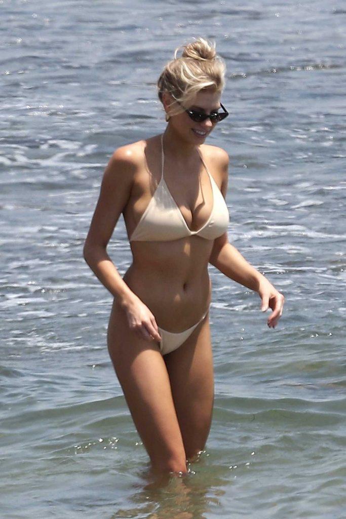 Charlotte McKinney Wears a Skinny Bikini on the Beach in Malibu 07/08/2018-4