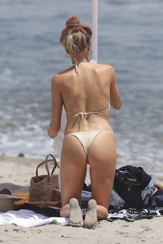 Charlotte McKinney Wears a Skinny Bikini on the Beach in Malibu 07/08/2018-5