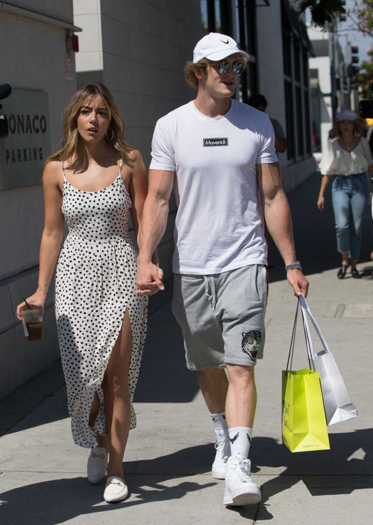 Chloe Bennet Goes Shopping Out with Her New Boyfriend Logan Paul in Beverly Hills 07/12/2018-2