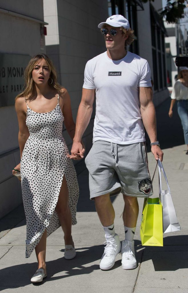 Chloe Bennet Goes Shopping Out with Her New Boyfriend Logan Paul in Beverly Hills 07/12/2018-4