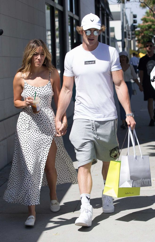 Chloe Bennet Goes Shopping Out with Her New Boyfriend Logan Paul in Beverly Hills 07/12/2018-5