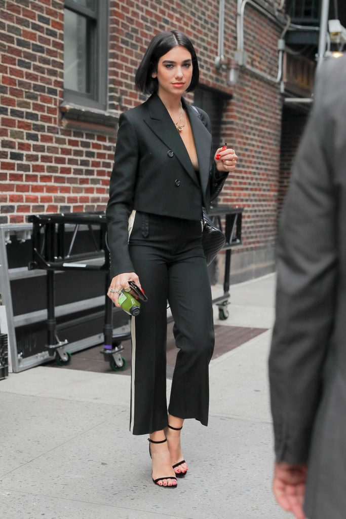 Dua Lipa in a Black Suit