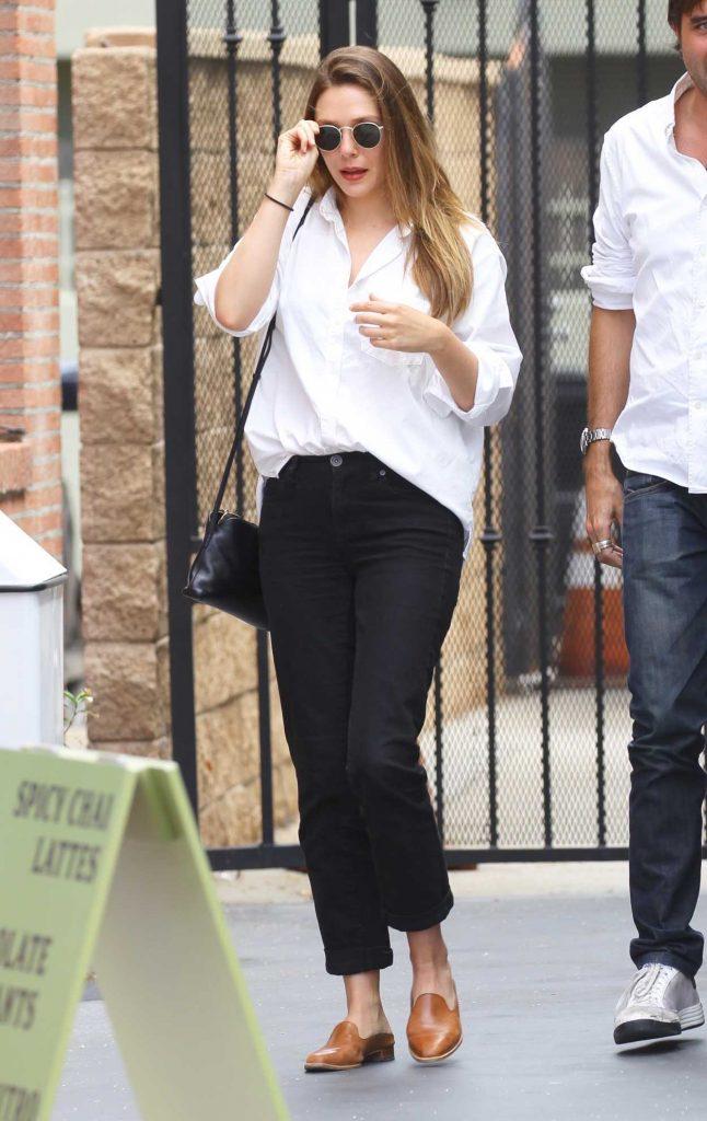 Elizabeth Olsen Leaves Alfred Coffee in Studio City 07/11/2018-1