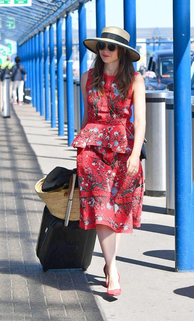 Felicity Jones Arrives at London City Airport in London 07/02/2018-3