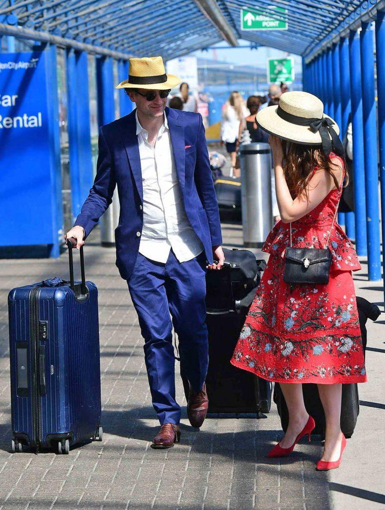 Felicity Jones Arrives at London City Airport in London 07/02/2018-4