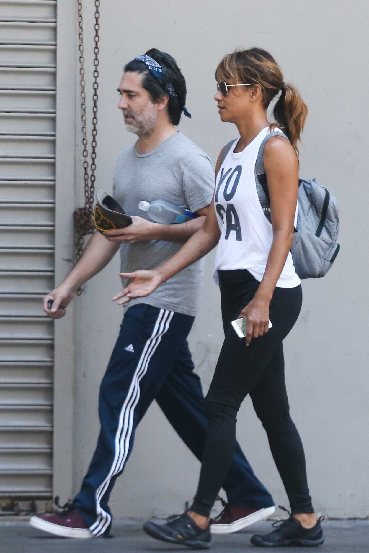 Halle Berry Was Seen In A Yoga Tank Top Out In Los Angeles