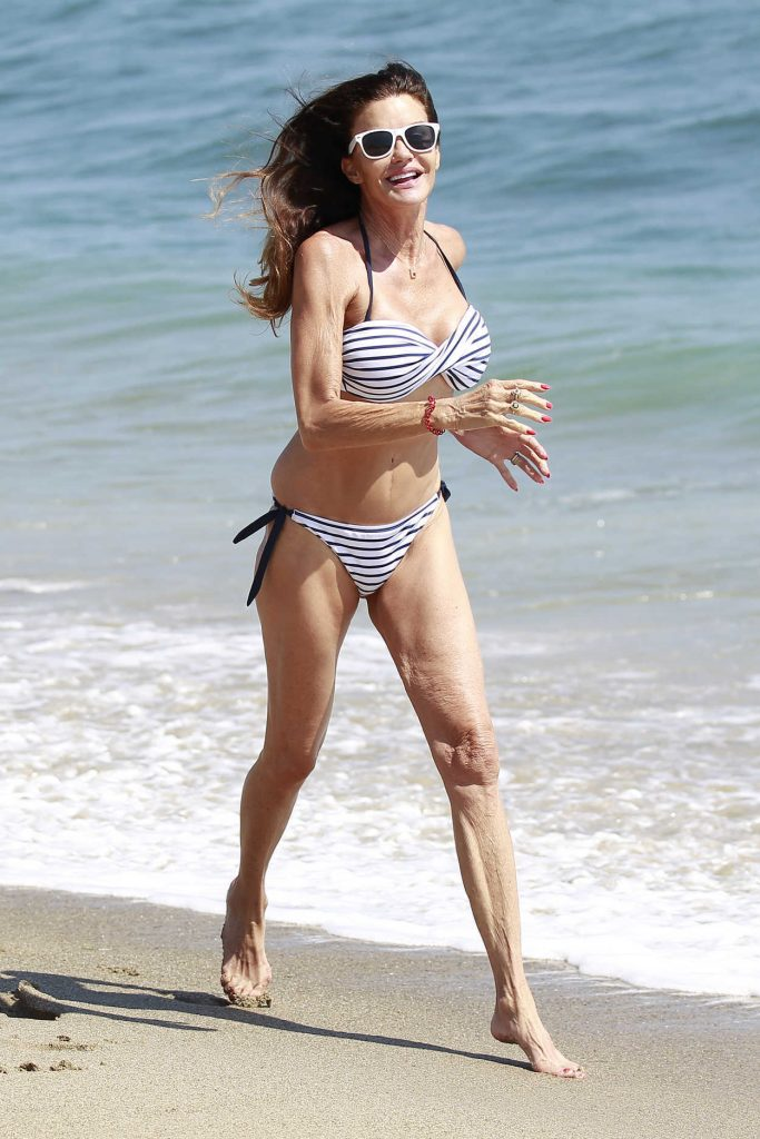 Janice Dickinson in Bikini on the Beach in Malibu 07/04/2018-1